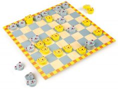 Legler Cat & Mouse Draughts Wooden Toy Game for sale online Checkers Board Game, Board Games, Wooden Cat, Wooden Toys, Cat Mouse, Game Sales, Perfume, Kids Rugs, Traditional