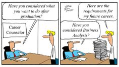Humor - Cartoon: When to Consider a Career in Business Analysis?