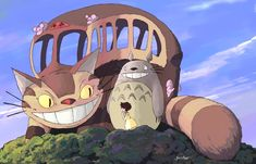 Title: My Neighbor Totoro Alt. Title: Tonari no Totoro Composer: Joe Hisaishi Cellist: Kaoru Kukita Instruments: Cello, . Hayao Miyazaki, Cat Bus Totoro, Piano Anime, Chihiro Y Haku, Gato Animal, Bus Art, Cats Bus, Ghibli Movies, My Neighbor Totoro