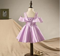 Toddler Girl Dresses Girl Princess Dresses 2017 New High Grade Girls Fashin Purple Lace Bow Party Dress Kids Clothes zsp