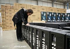 Tony at Laney factory...
