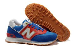 ZC6Y New Balance (NB) 574 Suede Classics Ladies Red White Gold sports shoes shoes.