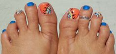 Another Boho pedicure design using my new Venique Sugar Hi-Heeled w/ a sparkly Hurray Huarrache on top of that.  Then the design handpainted on SinfulColors Hazard.  Love the color combo!