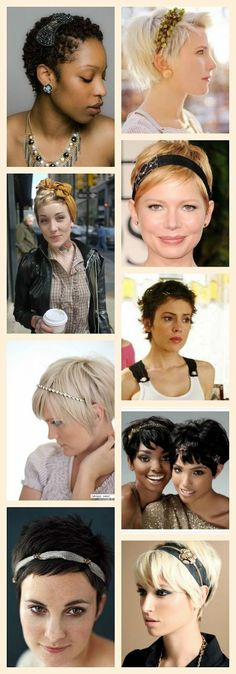 Fun Hair Accessories for Short Hair: Accent  #hairstyle #shorthair #hairdo - bellashoot.com