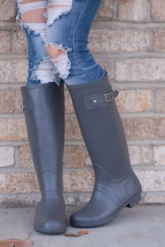 Heard of Hunter Boots? Yes? Good! Then you know how expensive they are! Well, here at KKB, we want to offer amazing quality products for a great price! So here we have adorable rain boots, lightweight