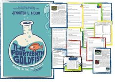 """70 page, """"The Fourteenth Goldfish"""" and """"The Third Mushroom"""" Novel Guides Bundle; Ideas for teaching science through language arts; Ideas for best elementary grade novel; Reading Words, Guided Reading, Reading Resources, Reading Activities, Elementary Teacher, Elementary Schools, Middle School Novels, Thing 1, Comprehension Questions"""