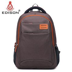 3c5363a1963e Edison Backpack for Laptops Up To 15.6-Inch (Coffee) Edison https