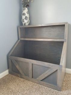 Love this, great for toy storage in the playroom #WoodProjectsDiyToys