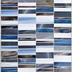 "Oceanside Glasstile...Collection Name: Devotion...Color Name: Blue Haven...Components: Light Smoke, Grey Blue, ...Components: Transparent Smoke, ...Components: Blue Cloud...Item Description: Zest...Square Feet Per Sheet: .99...Sheet Size: 11 15/16"" x 12""...Thickness: .125""...Sample Item Number: Contact Us"
