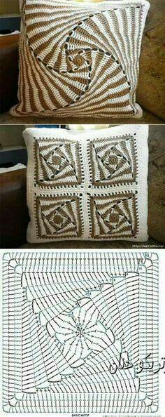 Transcendent Crochet a Solid Granny Square Ideas. Inconceivable Crochet a Solid Granny Square Ideas. Crochet Motifs, Crochet Blocks, Crochet Diagram, Crochet Chart, Crochet Squares, Crochet Doilies, Crochet Stitches, Free Crochet, Crochet Patterns