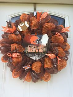 Cleveland browns deco mesh wreath