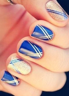 Nice blue nails.