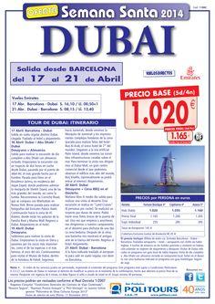 Semana Santa DUBAI salida 17/04 desde Barcelona ( 5d/4n) p.f. 1.165€ ultimo minuto - http://zocotours.com/semana-santa-dubai-salida-1704-desde-barcelona-5d4n-p-f-1-165e-ultimo-minuto/