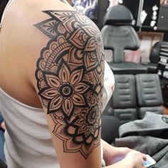 half sleeve mandala tattoo