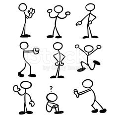 Stick Man Collection royalty-free stock vector art
