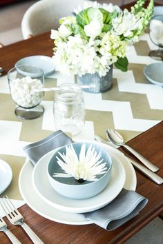 Make it festive with our Chevron set. Runner is matte gold food safe paper!