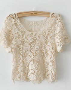 New Arrival Cute Japanese Style Crochet Lace Shirt