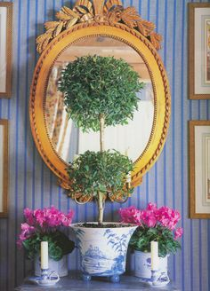 &Pot rack Flower Stand Wrought Iron Flower Stand Multilayer Balcony Living Room Interior Ground Plant Stand Small Decorative flower pots (Color : A) LYM Shabby, Chinoiserie Chic, Flower Stands, White Rooms, Elegant Homes, White Decor, Of Wallpaper, Topiary, White Porcelain