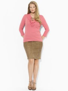 Ruffled Cotton Lace-Up Shirt - Lauren Woman Plus size NOW- just go find your job atFirstJob.com for your entry-level jobs and internships.www.firstjob.com #firstjob#careers #recruiters #jobs#joblistings #jobtips #interview#Jobhunter #jobhunting#humanresources #hr #staffing#grads #internships #entrylevel#career #employment