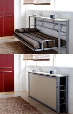 Breathtaking Ideas: Furniture Makeover Diy Furniture For Small Rooms Guestbed.Breathtaking ideas: Furniture Makeover Diy Furniture for small rooms Guestbed. 40 mini habitats we are pushing forHow to live Folding Furniture, Folding Beds, Space Saving Furniture, Diy Furniture, Furniture Design, Furniture For Small Spaces, Space Saving Beds, Furniture Makeover, Murphy Furniture