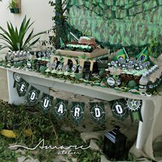 Design feito com amor! By #amareatelier | Quartel do Edu | #exercito #party…