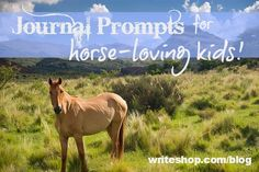 Are your children horse lovers? These writing prompts will set their pens a-galloping! {via writeshop.com}