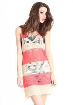 Stripe Venue Crochet Dress