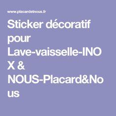 Sticker décoratif pour Lave-vaisselle-INOX & NOUS-Placard&Nous