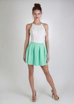 Flowy Short Skirt ~ Fitted Top | Fashion ~ Summer Sizzlers ...