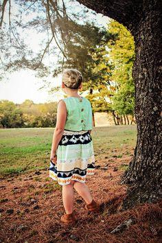 Genevieve back bodice dress