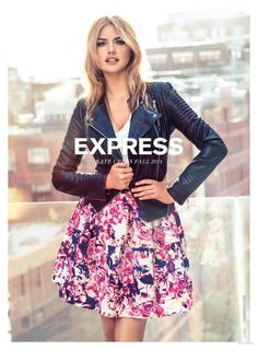 Kate Upton Gets Glam in Express Fall 2014 Ads