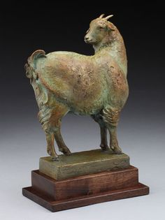 Louise Peterson - The Yearling, bronze edition  A neighbor's friendly yearling cashmere goat