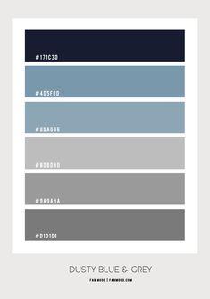 Dusty Blue and Grey Bedroom Color Scheme Sage Bedroom, Charcoal Bedroom, Black And Grey Bedroom, Green And Grey, Blue Grey, Dark Blue, Grey Room, Master Bedroom, Popular Paint Colors