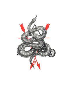 geometric snake tattoo - Ivan Meshkov, un illustrateur obsessionnel Wolf Tattoos, Finger Tattoos, Body Art Tattoos, New Tattoos, Small Tattoos, Sleeve Tattoos, Diy Tattoo, Tatoo Art, Harry Potter Tattoos