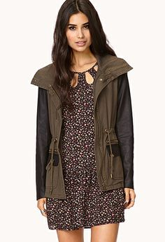 City-Chic Utility Jacket | FOREVER21 - 2000051283 I love the edgy jacket paired with a girly dress! #ForeverHoliday