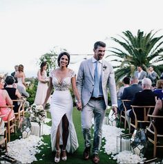 Michael Phelps and Nicole Johnson were married in Cabo San Lucas. The couple shared wedding photos of their beach front ceremony overlooking the ocean. Celebrity Wedding Photos, Celebrity Wedding Dresses, Celebrity Couples, Designer Wedding Dresses, Celebrity Weddings, Michael Phelps, Cabo San Lucas, Nicole Phelps, Nicole Johnson