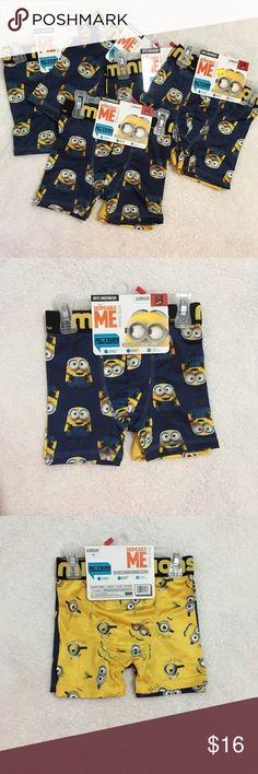 Despicable me boys underwear Despicable me boys underwear boxer briefs. ***** 5 PACKS TOTAL ***** 2 pair per pack (10 pair) Dispicable Me Other
