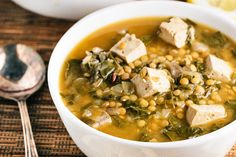 ... more creamy french lentils with mushrooms and kale thefirstmess com