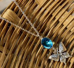 AAA Swiss Blue Quartz Fairy Charm Necklace / by gemsnjewelryworld