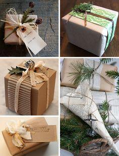 Christmas wrapping ideas @talalilala : idée pour réutiliser le carton ondulé