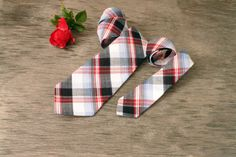 Father and Son Necktie Sets red blue and black by TheBestBoysTies, $67.90