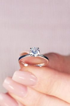 24 Beautiful Engagement Rings For A Perfect Proposal  beautiful engagement rings solitaire diamond simple white gold  More on the blog: