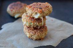 Pasteles de quinoa con queso