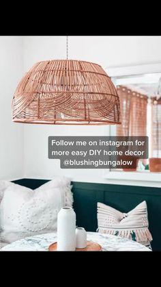 Basket Lighting, Diy Crafts For Home Decor, Ideias Diy, Boho Diy, Home Projects, Diy Furniture, Sweet Home, Diy Interior Hacks, Diy Home Interior