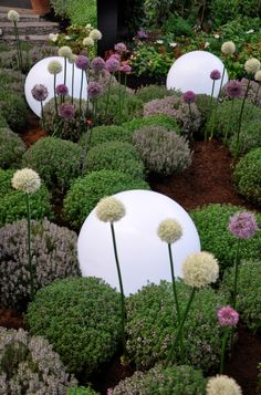 design by Sylvie Marechal – Backyard & Garden Design Garden Planters, Garden Fence, Garden Art, Garden Balls, Outdoor Gardens, Beautiful Gardens, Modern Garden, Minimalist Garden, Garden Inspiration