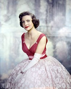 A young Betty White.