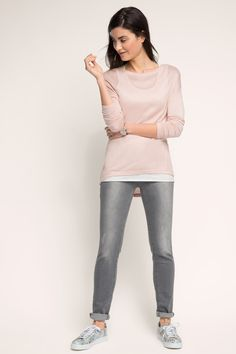 Esprit - 2-in-1marled long sleeve top at our Online Shop