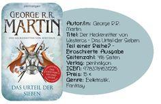 """Mit """"Der Heckenritter von Westeros"""" hat George R.R. Martin mal wieder ein wahres Lesevergnügen aufs Papier gezaubert hat, das man zwar nicht unbedingt gelesen haben muss, für alle Fans von Das Lied von Eis und Feuer jedoch ein Muss ist :)"""