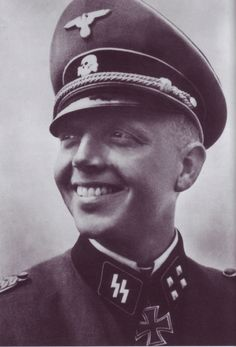 """Fritz """"Fritzy"""" Klingenberg.   SS Standartenfuhrer with Das Reich Won KC for his daring exploit in 1941, when he with 12 men crossed the Danube in a boat and captured Belgrade!"""