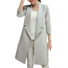 Like and Share if you want this  Female Long Linen Open Stitch Blazer Womens High Quality Spring Summer Three Quarter Sleeve Solid Lapel Suit  Cardigan Jacket     Tag a friend who would love this!     FREE Shipping Worldwide     Buy one here---> https://ihappyshop.com/female-long-linen-open-stitch-blazer-womens-high-quality-spring-summer-three-quarter-sleeve-solid-lapel-suit-cardigan-jacket/